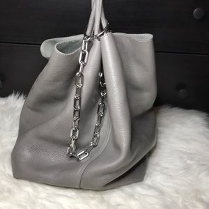 ALEXANDER WANG LARGE CABLE CHAIN TOTE BAG